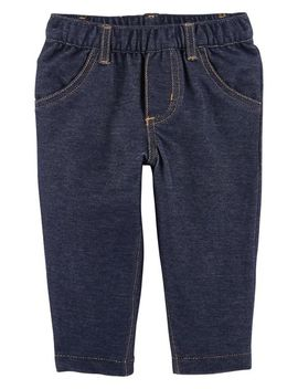 Pull On Knit Denim Pants by Carter's