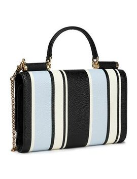 Striped Textured Leather Wallet by Dolce & Gabbana