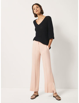 Flared Trousers With Side Slits by Massimo Dutti
