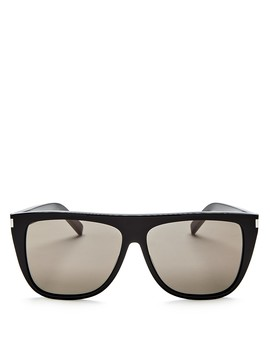 Men's Flat Top Square Sunglasses, 59mm by Saint Laurent