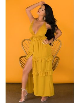 Have It Your Way Dress   Mustard by Lola Shoetique