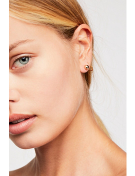 Single Ball Stud Single Earring by Free People