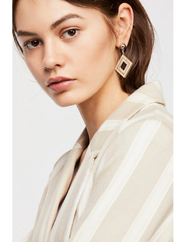 Diamond Wood Single Earring by Free People