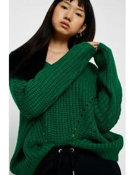 Uo Pointelle Fisherman Jumper by Urban Outfitters