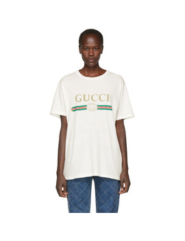 Off White Logo T Shirt by Gucci