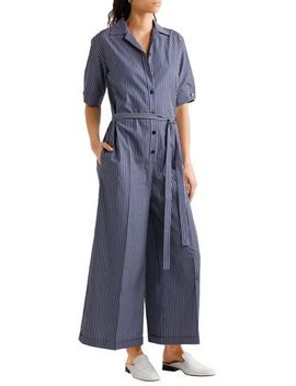 Striped Cotton Jumpsuit by Stella Mc Cartney