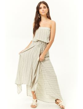 Geo Striped High Low Dress by Forever 21