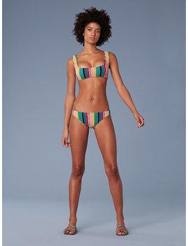 Smocked Square Cropped Bikini Top by Dvf
