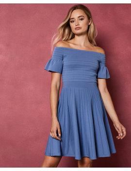 Bardot Frill Knitted Skater Dress by Ted Baker