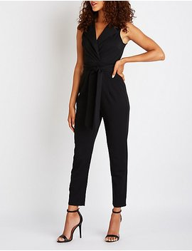 Front Tie Jumpsuit by Charlotte Russe