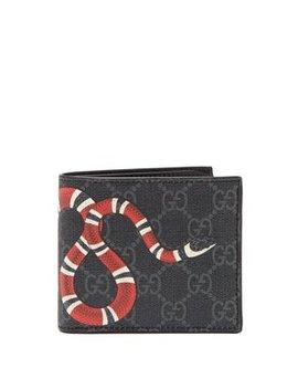 Gg Supreme Snake Print Wallet by Gucci
