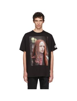 Black Christiane F. Edition Detlef T Shirt by Raf Simons