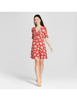 Women's Ruffle Sleeve Dress   Soul Cake (Juniors')   Red by Soul Cake