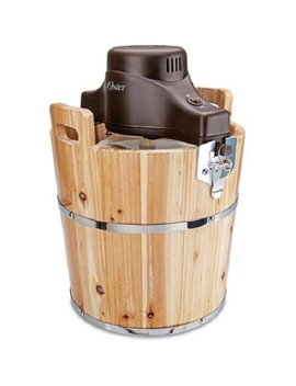 Oster Wooden Bucket Ice Cream Maker, 4 Quart (Frstic Wdb 001) by Oster
