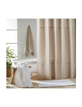 Pure Pintuck Pleat Shower Curtain by Dkny