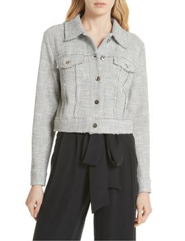 Stretch Tweed Jacket by Milly