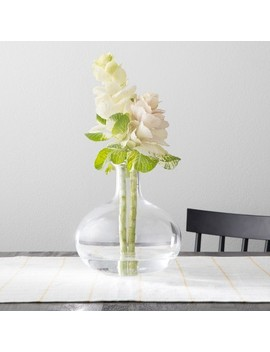 Vase With Folded Rim   Clear   Hearth & Hand™ With Magnolia by Shop This Collection