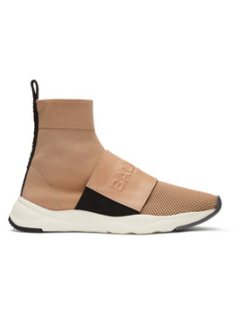 Pink Cameron High Top Sneakers by Balmain