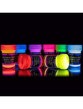 Neon Nights Uv Black Light Fluorescent Glow Fabric & Textile Paint Ultraviolet   Set Of 8 by Neon Nights