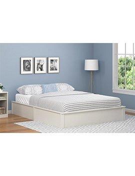 Ameriwood Home Full Platform Bed Frame, Vintage White by Ameriwood Home