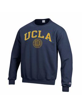 Shop College Wear Ucla Block & Seal Crew Neck Sweatshirt Navy by Shop College Wear