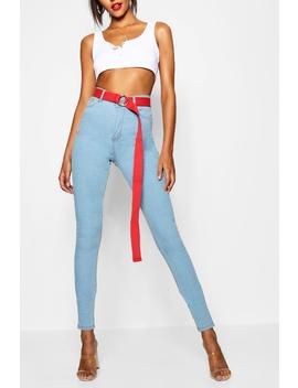 Tall 5 Pocket Stretch Skinny Jeans by Boohoo