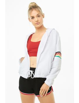 Active Rainbow Panel Zip Up Jacket by Forever 21