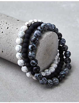 Aeo B&W Bead Bracelet Set by American Eagle Outfitters