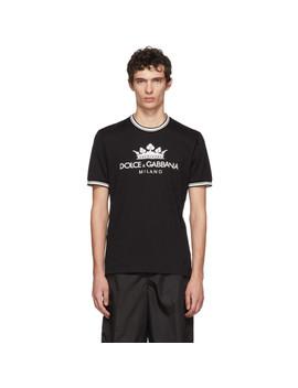 Black Crown T Shirt by Dolce & Gabbana
