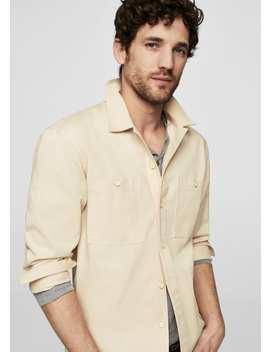 Camisa Regular Fita Com Gola De Estilo Lapela by Mango