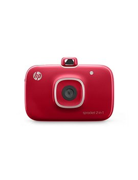 "Hp 2 Fb98 A#B1 H Sprocket 2 In 1 Portable Photo Printer & Instant Camera, Print Social Media Photos On 2x3"" Sticky Backed Paper   Red (2 Fb98 A) by Hp"