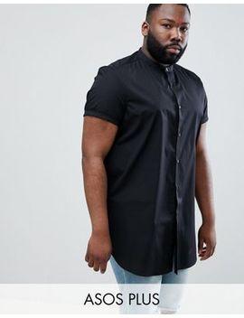 Asos Design Plus Regular Fit Shirt In Super Longline by Asos Design