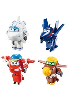 Super Wings Transform A Bots (Flip /Todd /Agent Chase/Astra) by Super Wings