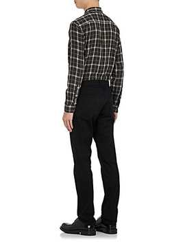 Plaid Double Faced Cotton Flannel Shirt by Vince.