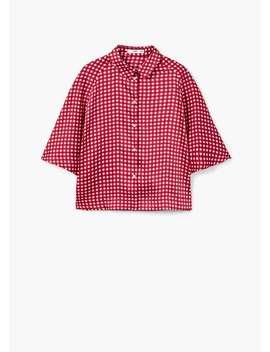 Camisa Oversize Cuadros by Mango