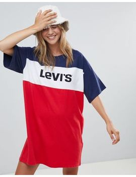 Levi's Sports Logo Colour Block T Shirt Dress by Levi's