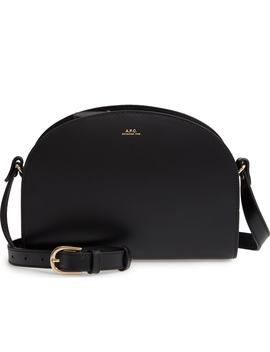 Sac Demi Lune Leather Shoulder Bag by A.P.C.