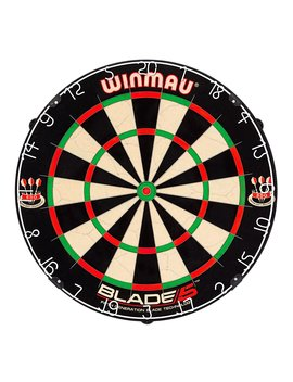 Winmau Blade 5 Bristle Dartboard With All New Thinner Wiring For Higher Scoring And Reduced Bounce Outs by Winmau