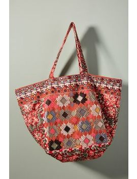 Adilah Embroidered Tote Bag by Anthropologie