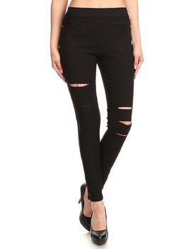 Jvini Women's Pull On Ripped Distressed Stretch Legging Pants Denim Jean by Jvini