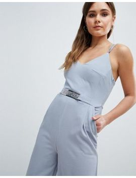 Yumi Jumpsuit With Metal Belt Detail by Jumpsuit