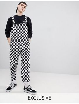 Reclaimed Vintage Inspired Checkerboard Overall by Reclaimed Vintage