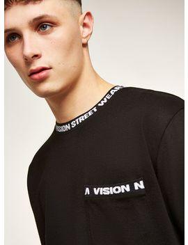 Vision Street Wear Black Ribbed Long Sleeve T Shirt by Topman