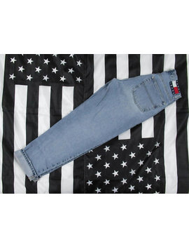 Vintage 90's Bundle Tommy Hilfiger Jeans (X2) Size 29x32 Big Flag Spellout Stone Wash Tapered Broken In *Two Pairs* by Etsy