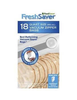 Food Saver Vacuum Zipper Bags, 1 Quart/.95 Liter, 18ct (Fsfrbz0216) by Foodsaver