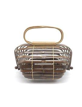 Herald Fashion Bamboo Handbag Handmade Large Tote Bag (Small, Coffee) by Herald