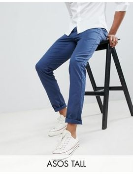 Asos Design Tall   Pantalon Chino Slim   Bleu Nuit by Asos Design