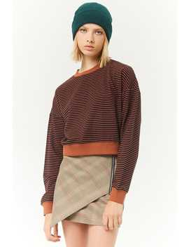 Striped French Terry Sweater by Forever 21