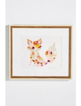 Pressed Flower Fox Wall Art by Artfully Walls