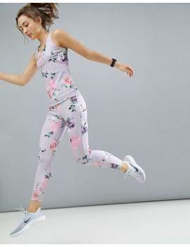 Asos 4505 Legging In Floral Print With Elastic Trim by Asos 4505